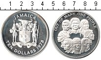 Изображение Монеты Ямайка 10 долларов 1978 Серебро Proof Из многих разных был