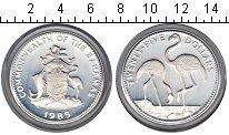 Изображение Монеты Багамские острова 25 долларов 1985 Серебро Proof- фламинго
