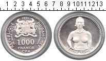 Изображение Монеты Дагомея 1000 франков 1971 Серебро Proof- девушка