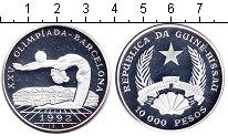 Изображение Монеты Гвинея-Бисау 10000 песо 1992 Серебро