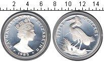 Изображение Монеты Каймановы острова 50 долларов 1985 Серебро Proof- Елизавета II. Птичка