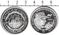 Изображение Монеты Либерия 5 долларов 1992 Серебро Proof Чемпион Формулы-1 Ни