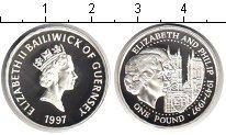 Изображение Монеты Гернси 1 фунт 1997 Серебро Proof