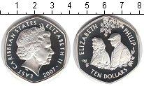 Изображение Монеты Карибы 10 долларов 2007 Серебро Proof