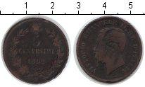 Изображение Монеты Италия 5 сентесим 1862 Медь VF Витторио Имануил II
