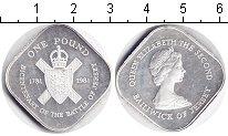 Изображение Монеты Остров Джерси 1 фунт 1981 Серебро Proof- Елизавета II