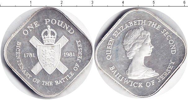 Картинка Монеты Остров Джерси 1 фунт Серебро 1981
