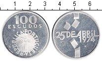 Изображение Монеты Португалия 100 эскудо 1974 Серебро Proof- 25 апреля