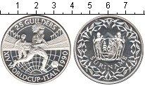 Изображение Монеты Суринам 25 гульденов 1990 Серебро Proof Чемпинат мира по фут