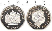 Изображение Монеты Гернси 50 пенсов 2003 Серебро Proof-