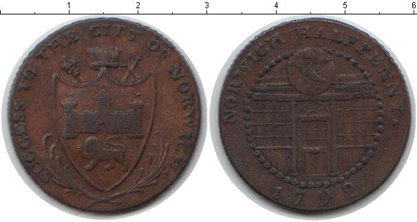 Картинка Монеты Великобритания 1/2 пенни Медь 1792