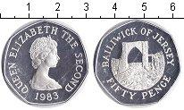 Изображение Монеты Остров Джерси 50 пенсов 1983 Серебро Proof-