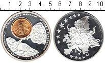 Изображение Мелочь Либерия 1 доллар 2002 Посеребрение Proof- Евроцент Италия