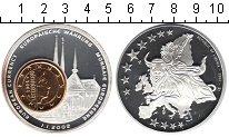 Изображение Монеты Либерия 1 доллар 2002 Посеребрение Proof- 1 евро Люксембург