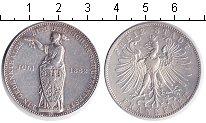 Изображение Монеты Франкфурт 1 талер 1862 Серебро VF Стрелковый фестиваль