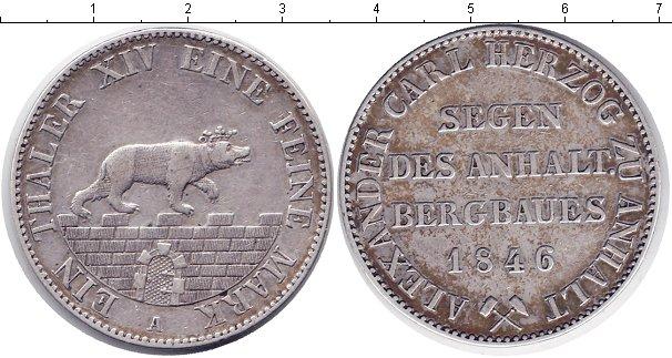 Картинка Монеты Анхальт-Бернбург 1 талер Серебро 1862