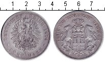 Изображение Монеты Гамбург 5 марок 1876 Серебро  J
