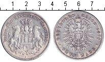 Изображение Монеты Гамбург 5 марок 1876 Серебро