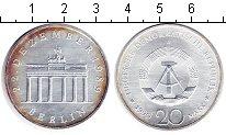 Изображение Монеты ГДР 20 марок 1990 Серебро Proof- Бранденбургские воро