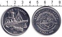 Изображение Монеты Либерия 5 долларов 1998 Медно-никель XF Титаник