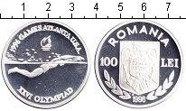 Изображение Монеты Румыния 100 лей 1996 Серебро Proof Олимпиада-1996 в Атл