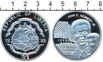 Изображение Монеты Либерия 10 долларов 1999 Серебро Proof Джон Кеннеди