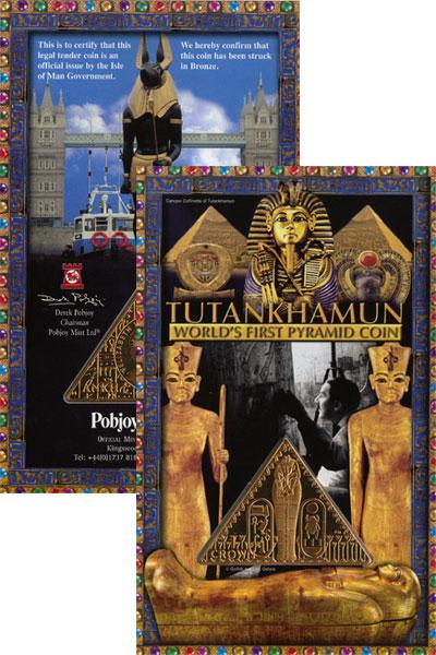 Изображение Подарочные наборы Остров Мэн Тутанхамон 2008 Медь UNC `Подарочная монета `