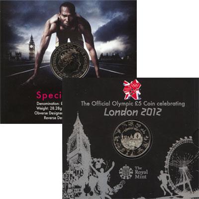 Изображение Подарочные монеты Великобритания 5 фунтов 2012 Медно-никель UNC `Подарочная монета и