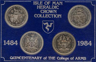 Изображение Подарочные монеты Остров Мэн Геральдика 1984 Медно-никель UNC `Подарочный набор 19
