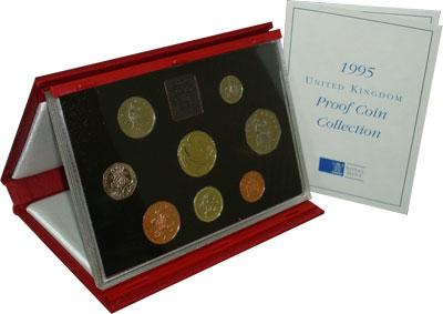 Изображение Подарочные монеты Великобритания 50-летие победы в Великой отечественной Войне 1995  Proof Подарочный набор пос