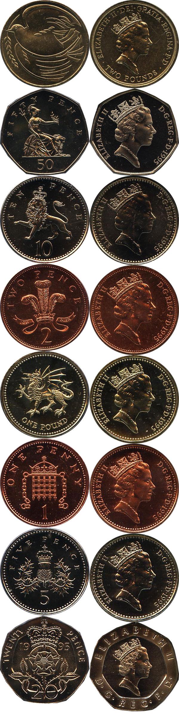 Картинка Подарочные монеты Великобритания 50-летие победы в Великой Отечественной Войне  1995