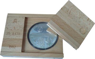Изображение Подарочные монеты Испания Мадрид- культурная столица 1992 Серебро Proof Подарочная монета по