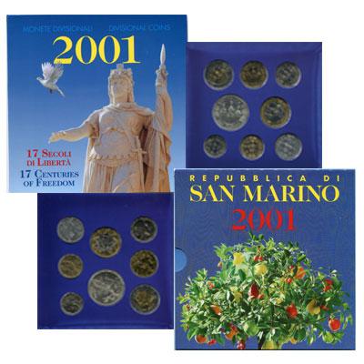 Изображение Подарочные наборы Сан-Марино Набор: 17 веков свободы 2001  UNC