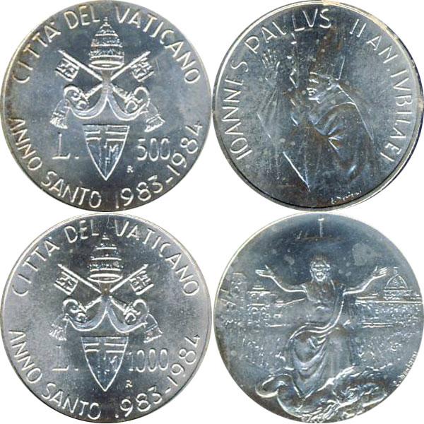 Картинка Подарочные наборы Ватикан Anno Santo 1983 - 1984  1984