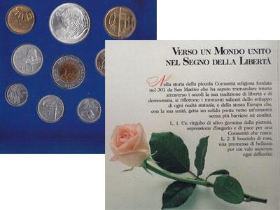 Изображение Подарочные монеты Сан-Марино Набор: В истории Европы - залог ее будущего 1993  UNC