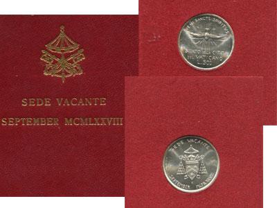 Изображение Подарочные наборы Ватикан Sede Vacante September 1978 1978   500 лир (серебро).