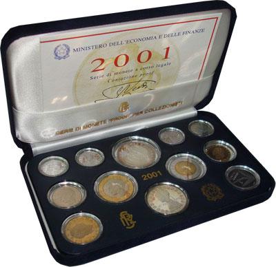 Изображение Подарочные наборы Италия Джузеппе Верди Proof 2001   100 лет со дня смерт