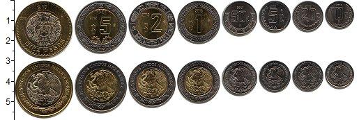 Изображение Наборы монет Мексика Мексика 2002-2015 0  UNC- В наборе 8 монет ном