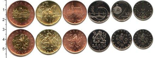 Изображение Наборы монет Чехия Чехия 2011-2013 0  UNC- В наборе 6 монет ном