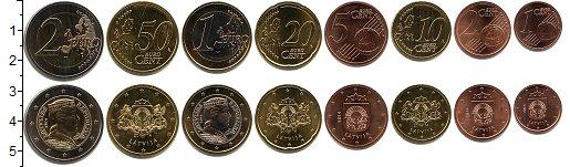 Изображение Наборы монет Латвия Латвия 2014 2014  UNC- В наборе 8 монет ном