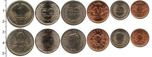 Изображение Наборы монет Колумбия Колумбия 1969-1979 0  XF В наборе 6 монет ном