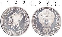 Изображение Монеты Португалия 250 эскудо 1988 Серебро Proof- Олимпиада 1988 в Сеу