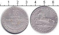 Изображение Монеты Ганновер 16 грош 1834 Серебро