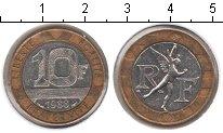 Изображение Мелочь Франция 10 франков 1988 Биметалл XF