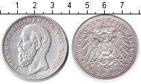 Изображение Монеты Баден 5 марок 1901 Серебро XF Фридрих