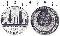 Изображение Монеты США 1 доллар 2010 Серебро Proof Инвалиды войны