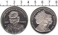 Изображение Мелочь Фолклендские острова 1 крона 2012 Медно-никель UNC- Жизнь Елизаветы II