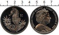 Изображение Мелочь Виргинские острова 1 доллар 2014 Медно-никель UNC- морской конек