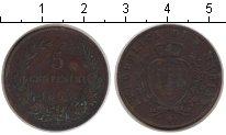 Изображение Монеты Сан-Марино 5 сентесим 1864 Медь VF