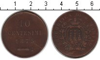 Изображение Монеты Сан-Марино 10 сентесим 1875 Медь VF
